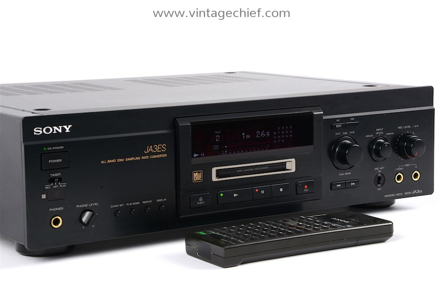 Sony MDS-JA3ES MiniDisc Recorder