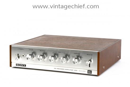 Sony SQA-200 Stereo Quadraphonic Decoder Amplifier